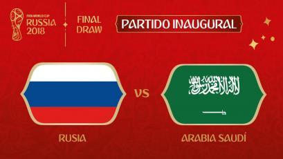 Rusia 2018: El anfitrión y Arabia Saudita inaugurarán el Mundial