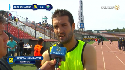 """Gianfranco Labarthe: """"El equipo estuvo bien parado en todo momento"""""""