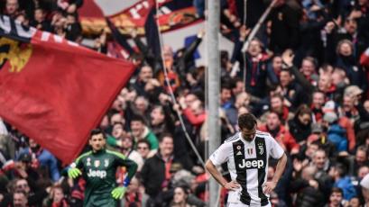 Sin CR7: Juventus perdió el invicto en la Serie A en su visita al Genoa