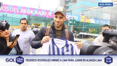 Federico Rodríguez tras arribar al Perú: