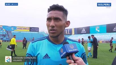 """Christofer Gonzales: """"Fue un partido muy duro, pero lo principal es que se ganó"""" (VIDEO)"""