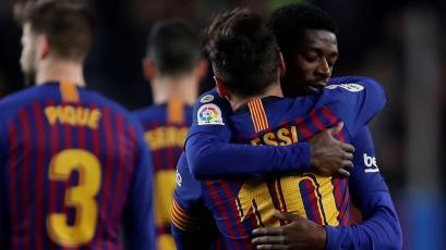 Barcelona supera 2-0 al Celta con goles de Messi y Dembélé