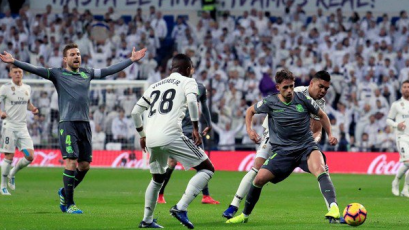 Real Madrid fue sorprendido en casa ante la Real Sociedad