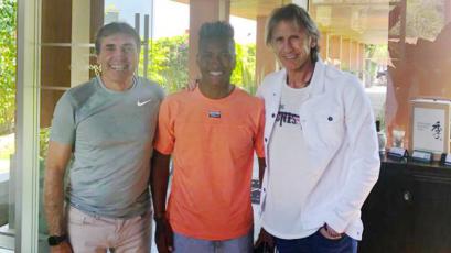 Selección Peruana: Ricardo Gareca y Néstor Bonillo visitaron a Pedro Aquino en México (FOTO)