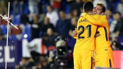 Griezmann confirma su buen momento en la goleada del Atlético de Madrid