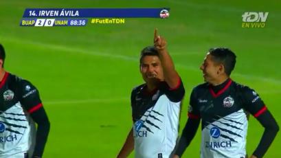 Irven Ávila anotó su primer gol con Lobos BUAP