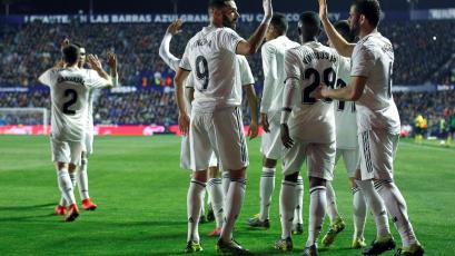 Real Madrid se impone 2-1 ante el Levante y llega con vida al clásico ante Barcelona