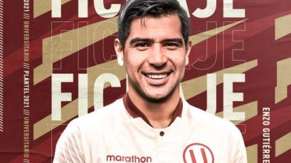 Universitario de Deportes oficializó la contratación de Enzo Gutiérrez