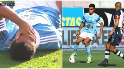 Sporting Cristal vs Alianza Lima: así se vio a ras de campo la lesión que sacó a Christopher Olivares llorando (VIDEO)