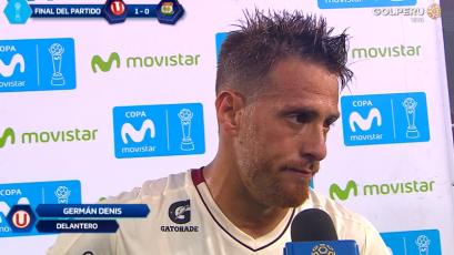 """Germán Denis: """"Si jugamos como en el primer tiempo es imposible que nos ganen"""""""