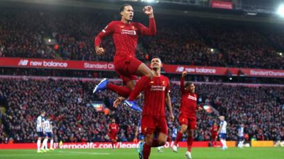 Liverpool superó al Brighton y extendió su ventaja en la Premier League