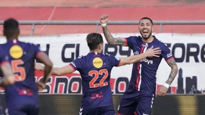 Sergio Peña anotó el gol del triunfo para el FC Emmen en la Eredivisie
