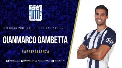 Alianza Lima agradeció a Gianmarco Gambetta