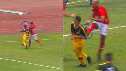 Cienciano hizo dos penales inocentes en 10 minutos y Cantolao no desaprovechó (VIDEO)