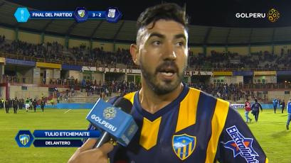 """Tulio Etchemaite: """"Era un desafío importante ganarle a Alianza Lima"""""""