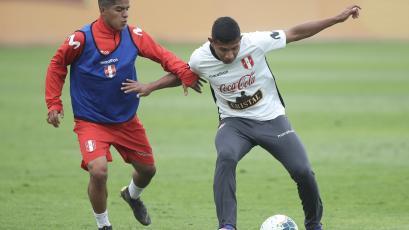 Selección Peruana entrenó en el estadio Nacional pensando en Uruguay