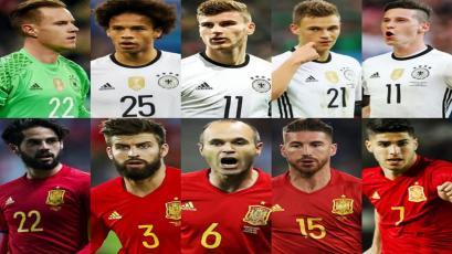 España y Alemania presentaron su lista de convocados