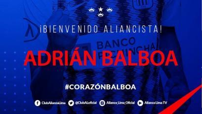 Alianza Lima: Adrián Balboa es el nuevo '9' para el resto de la temporada