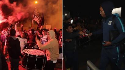 Alianza Lima y el impresionante recibimiento a los jugadores blanquiazules en Trujillo (VIDEO)