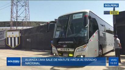 Liga1 Betsson: así fue el recorrido del bus de Alianza Lima para su duelo ante Sporting Cristal, de Matute al estadio Nacional (VIDEO)