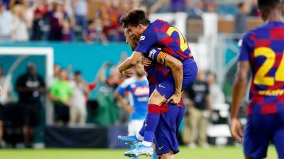 Busquets y Rakitic le dan la victoria al Barcelona sobre el Nápoli en Miami (VIDEO)