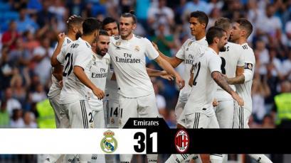 Real Madrid se presentó ante sus hinchas venciendo al Milan