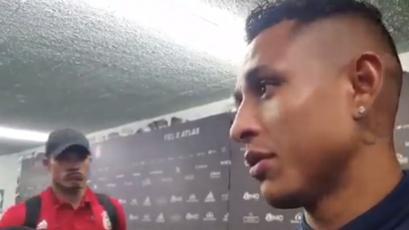 Anderson Santamaría vio a Yoshimar Yotun declarando y esto hizo delante de la prensa (VIDEO)