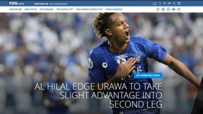 FIFA colocó a André Carrillo en su portada luego de hacer historia en la Champions League de Asia