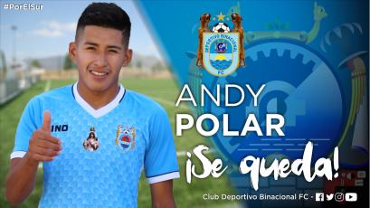 Andy Polar renovó una temporada más con Deportivo Binacional