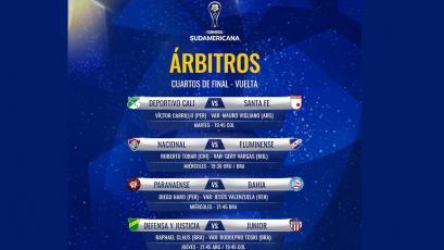 Copa Sudamericana: Carrillo y Haro arbitrarán en la vuelta de los cuartos de final