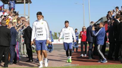 Selección Argentina entrena a puertas abiertas en Bronnitsy