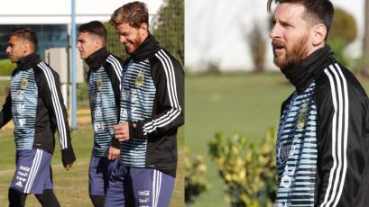 Lionel Messi se integró a los entrenamientos de la Selección Argentina