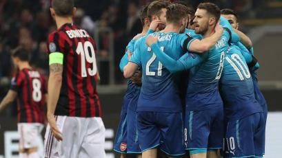 Europa League: Arsenal golpea al Milan en San Siro