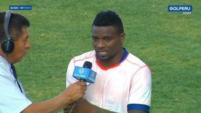 Carlos Preciado tras anotar con Ayacucho FC: