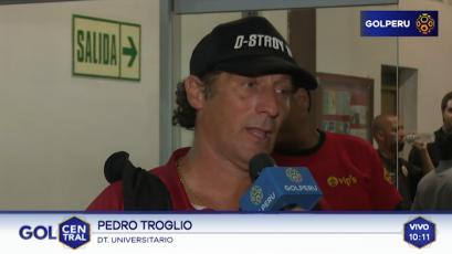 """Pedro Troglio: """"Fue un tiempo para cada uno"""""""