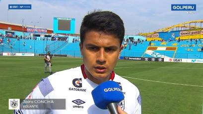 Jairo Concha tras el empate ante Cristal: