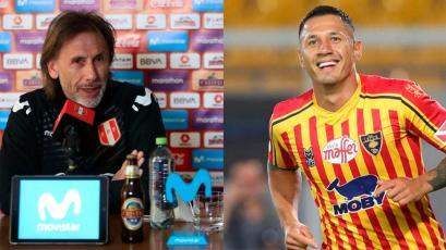 """Ricardo Gareca sobre Gianluca Lapadula: """"La selección está abierta para quien quiera estar"""""""