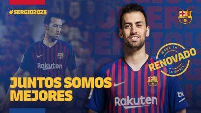 Sergio Busquets renueva con el Barcelona por 5 temporadas más