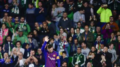 Barcelona golea con Lionel Messi como estandarte