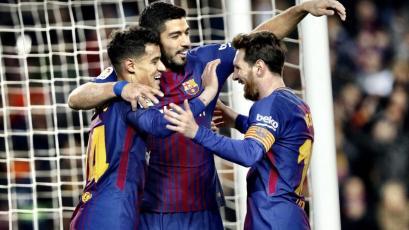 La Liga: Barcelona golea de la mano de Messi y Suárez