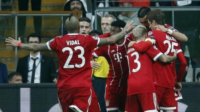 Bayern Munich liquidó al Besiktas y se metió en cuartos de final