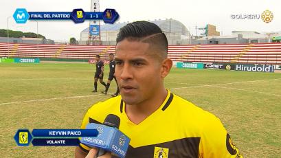 "Keyvin Paico: ""Nos quedamos con un sin sabor por este empate"""