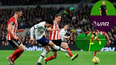 El VAR evitó la derrota del Tottenham con un cobro milimétrico (VIDEO)