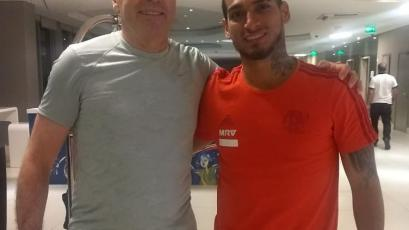Miguel Trauco se reunió con Nestor Bonillo en Brasil