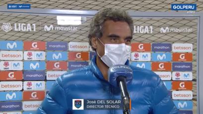 """José Del Solar sobre el empate de César Vallejo: """"Fuimos mejores en el trámite del partido"""""""