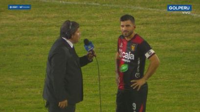 Bernardo Cuesta tras su hat-trick con Melgar: