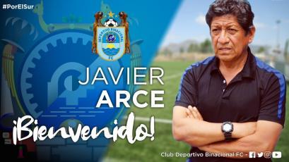 Binacional confirmó a Javier Arce como su DT