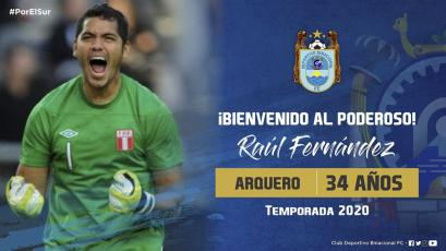 Deportivo Binacional: Raúl Fernández será uno de los porteros del campeón