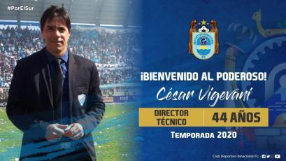 Fichajes 2020: El argentino César Vigevani es el flamante técnico de BInacional