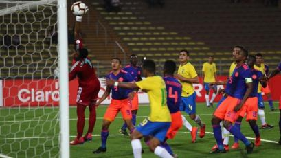 Sudamericano Sub 17 Perú 2019: Brasil le anotó increíble gol olímpico a Colombia (VIDEO)